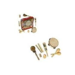 Valise 7 instruments percu bois