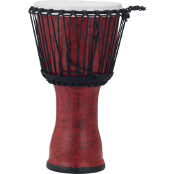 Djembe Pearl Rope Tuned Molten Scarlet 10""