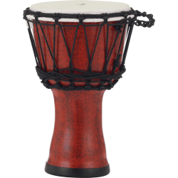 """Djembe Pearl Rope Tuned Molten Scarlet 7"""""""