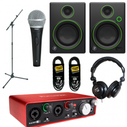 Pack Home-Studio Focusrite + Mackie + Shure