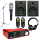 Pack Home-Studio Focusrite + Mackie + Shure Instrument