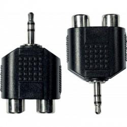 Adaptateurs 2 RCA fem. - 1 mini-jack mâle - La paire