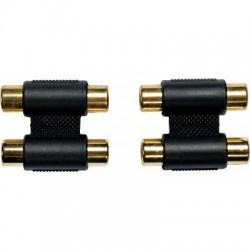 Adaptateurs 2 RCA fem. - 1 RCA mâle - La paire