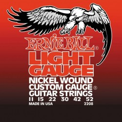 Cordes élect. Ernie Ball Light Gauge 11-52