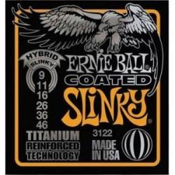 Cordes élect. Ernie Ball Slinky Hybrid Titanium 9-46