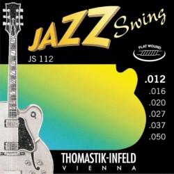 Cordes élect. Thomastik Jazz Swing Filé Plat 12-50