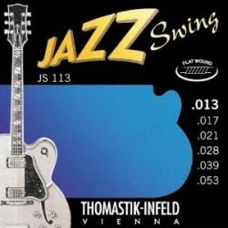 Cordes élect. Thomastik Jazz Swing Filé Plat 13-53