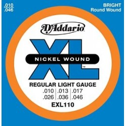 Cordes élect. D'Addario Regular Light 10-46