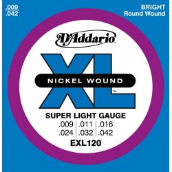 Cordes élect. D'Addario Super Light 9-42