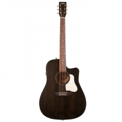 Art & Lutherie Americana Faded Black Electro Cutaway