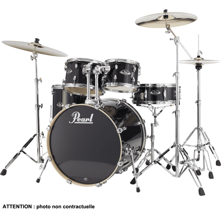 Pearl Export Lacquer EXL 22'' Black Smoke + Hardware