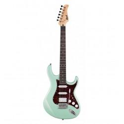 Guitare électrique Cort G110 caribbean green