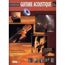 Intermédiaire Guitare acoustique - Méthode avec CD