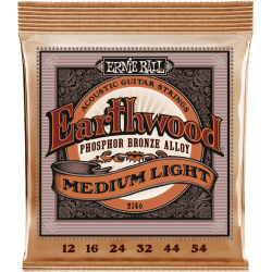 Cordes folk Ernie Ball Earthwood Slinky Phosphore Bronze medium-light 12-54