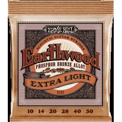 Cordes folk Ernie Ball Extra Slinky Phosphore Bronze extra-light 10-50