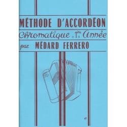 Ferrero - Méthode d'accordéon chromatique - 1ère année