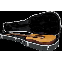 Etui guitare Folk dreadnought 12 cordes 4/4 ABS Deluxe