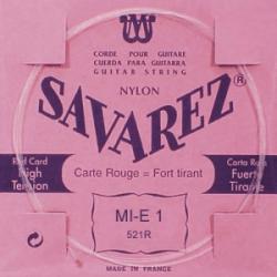 Corde Mi aigu tension forte guitare classique Savarez 521R