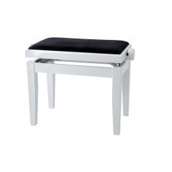 Banquette piano Gewa Deluxe Blanc mat